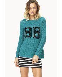 Forever 21 | Blue Fresh 88 Sweater | Lyst