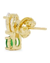 Iosselliani | Green Swarovski Crystal Gold-plated Earrings | Lyst