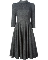 Dolce & Gabbana - Black Tweed Dress - Lyst