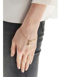 Vivienne Westwood | Metallic Gold Plated Orb Bracelet | Lyst