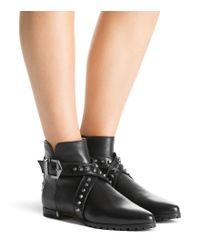 Stuart Weitzman | Black Showshield Leather & Faux Fur Booties | Lyst