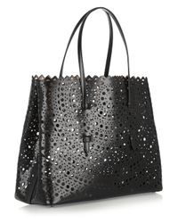 Alaïa - Black Vienna Laser-Cut Leather Tote - Lyst