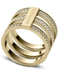Michael Kors | Metallic Mkj37807108 Ladies Ring Size 8 | Lyst