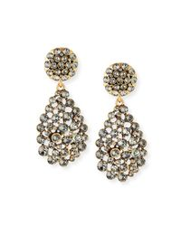 Oscar de la Renta - Metallic Classic Crystal Teardrop Clip Earrings - Lyst