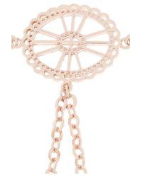 Arme De L'Amour | Metallic Rose Gold-plated Finger Bracelet | Lyst