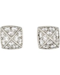 Linda Lee Johnson | White La Pyramid Deux Studs | Lyst