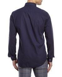 Moods Of Norway - Blue Kristian Vik Micro Print Shirt for Men - Lyst