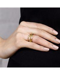 Maya Magal | Metallic Five Strand Ring Gold | Lyst