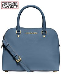Michael Kors | Blue Michael Cindy Medium Dome Satchel | Lyst
