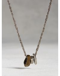 John Varvatos - Metallic Brass Open Link Necklace for Men - Lyst