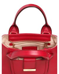 See By Chloé | Red Mini Delia Grained Leather Top Handle | Lyst
