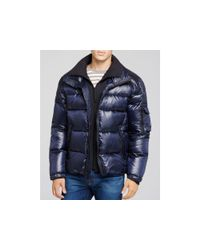 Sam. | Blue Shiny Racer Quilted Down Jacket | Lyst