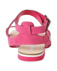 Calvin Klein - Pink Carolina Flat Sandals - Lyst