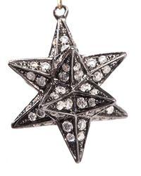 Noor Fares   Metallic Diamond & Gold Merkaba Star Earrings   Lyst