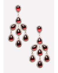 Bebe | Red Chandelier Drop Earrings | Lyst