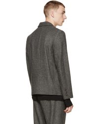 Robert Geller - Gray Grey Melange Robert Blazer for Men - Lyst