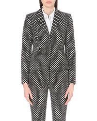 Diane von Furstenberg - Black Jennie Single-breasted Woven Jacket - Lyst
