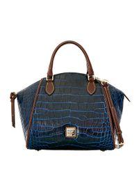 Dooney & Bourke - Blue Sydney Embossed Leather Satchel - Lyst