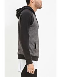 Forever 21 | Gray Colorblocked Raglan Hoodie for Men | Lyst