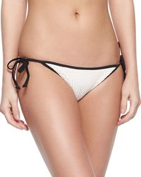Shoshanna - Natural Crochet Tie-side Swim Bottom - Lyst