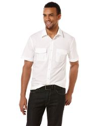 Perry Ellis | White Modern Fit Micro Dot Sportshirt for Men | Lyst