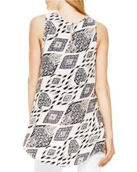 Vince Camuto | Gray Marrakesh Tapestry Print Blouse | Lyst