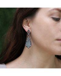 Arunashi - Blue Carved Aquamarine Earrings - Lyst