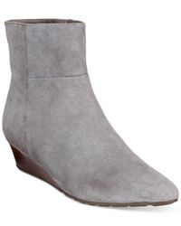 Cole Haan | Gray Tali Luxe Wedge Booties | Lyst