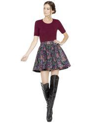 Alice + Olivia - Purple Lary Ottoman Crop Sweater - Lyst