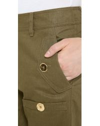 Moschino - Green Cargo Pants - Lyst