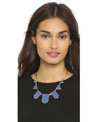 House of Harlow 1960 | 5 Station Necklace - Blue | Lyst