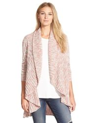 NIC+ZOE - Pink 'coral Room' Open Front Cardigan - Lyst