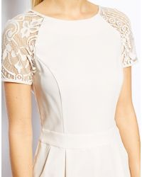 Oasis - White Lace Playsuit - Lyst