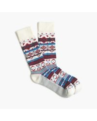 J.Crew | Multicolor Fair Isle Mountain Socks | Lyst