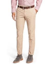 Incotex | Natural Slim Fit Stretch Twill Pants for Men | Lyst