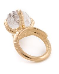 Bjorg | Metallic Herkimer Claw Ring | Lyst