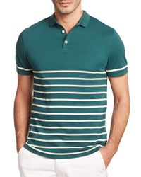 AG Green Label | Green Sebastian Striped Polo for Men | Lyst