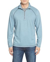 Tommy Bahama | Blue 'sedona Sands' Half Zip Triblend Sweatshirt for Men | Lyst