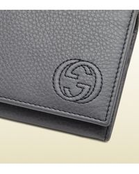 Gucci | Gray Soho Leather Coin Wallet for Men | Lyst
