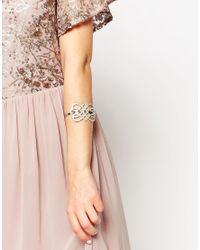 Lipsy | Metallic Fine Pave Look Cuff | Lyst