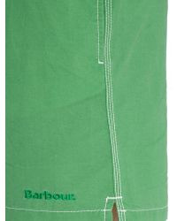 Barbour | Green Drawstring Board Shorts for Men | Lyst