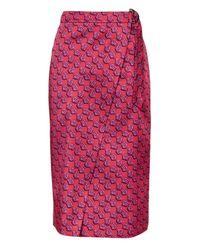 TOPSHOP | Purple Lustre D-ring Midi Skirt | Lyst