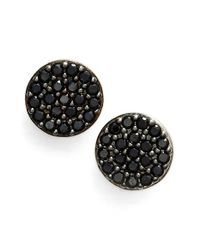 Nadri | Black 'geo' Small Stud Earrings | Lyst