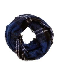 Lord & Taylor | Blue Plaid Loop Scarf | Lyst