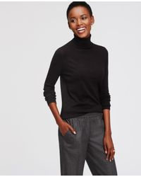 Ann Taylor | Black Everyday Turtleneck | Lyst