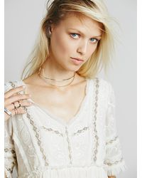 Free People | Black Frame Bow Choker | Lyst