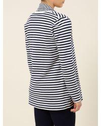 Dash - Multicolor Striped Jersey Cardigan - Lyst