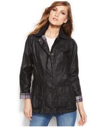 Barbour | Black Beadnell Waxed Anorak Jacket | Lyst
