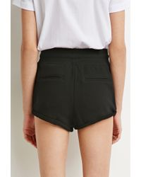 Forever 21 - Black French Terry Drawstring Shorts - Lyst