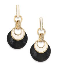 Alexis Bittar | Black Lucite & Crystal Encrusted Infinity Links Drop Earrings | Lyst